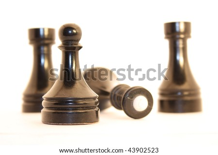 Chessmen are executed from an ivory and collected in the complete set