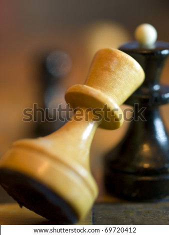 chessmen close - stock photo