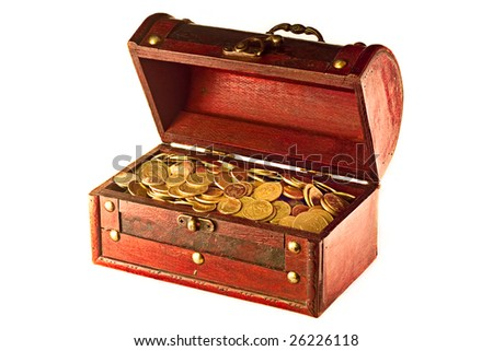 Chest full of golden coins
