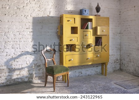 chest of drawer - stock photo