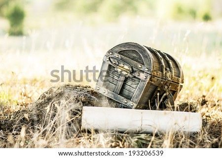 chest of gold - stock photo