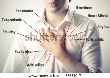 Chest Pain Causes Disease Diagram Stock Photo Edit Now Shutterstock