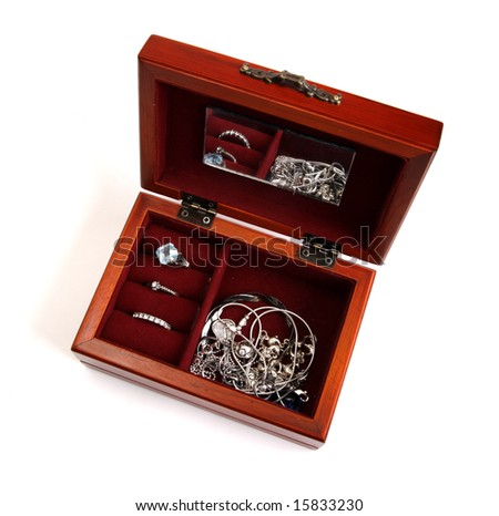Chest with adornments - stock photo