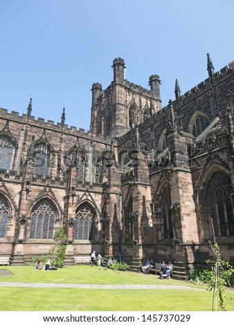 Chester Cathedral, England - stock photo