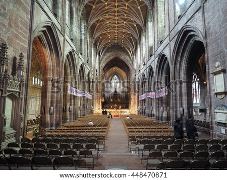 CHESTER, UK - CIRCA JUNE 2016: Chester Anglican Cathedral church