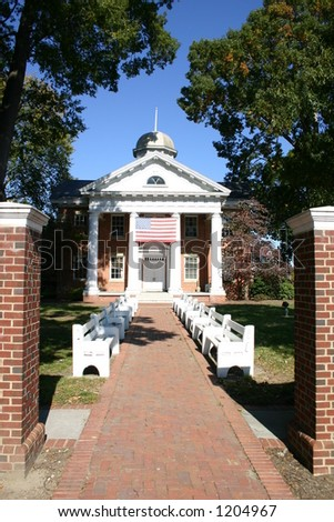 Chesterfield Courthouse - Chesterfield Virginia - stock photo