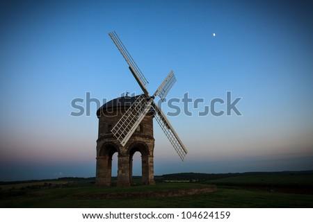 Chesterton Windmill at dusk - stock photo