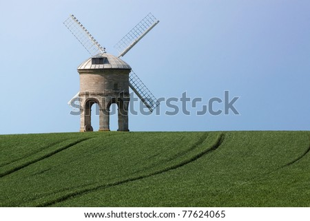 Chesterton Windmill in field
