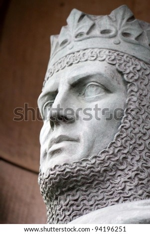 chevalier on the Edinburgh Castle - stock photo