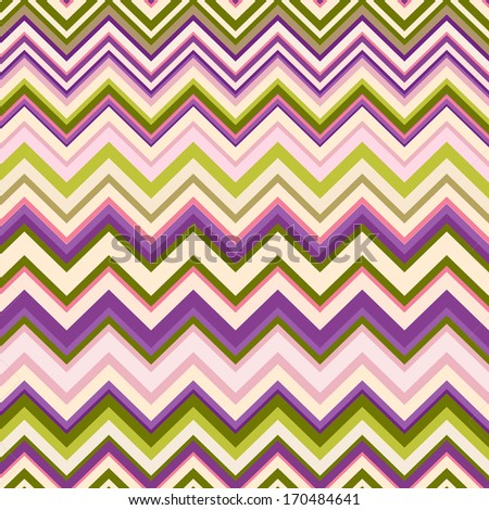 Chevron pattern. Colorful zigzag seamless pattern - stock photo