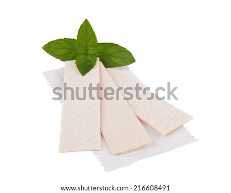 Chewing gum isolated on a white background - stock photo