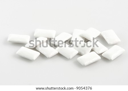chewing gums isolated on white background food sweets concepts - stock photo