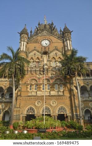 Chhatrapati Shivaji Terminus (Victoria Terminus)  - stock photo