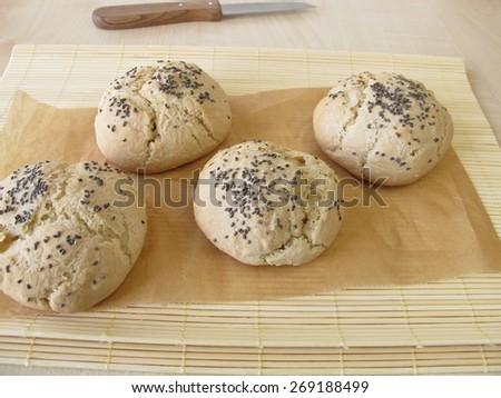 Chia rolls - stock photo