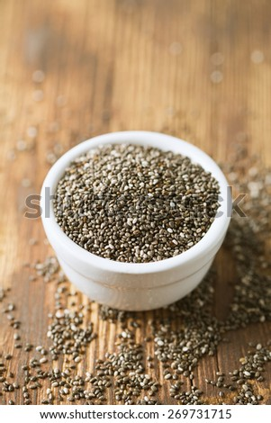 chia seeds - stock photo