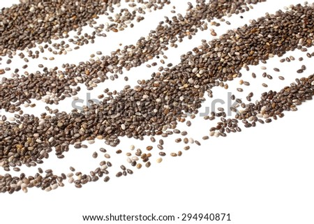 Chia seeds on white background - stock photo
