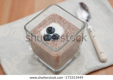Chia Seeds Pudding - stock photo