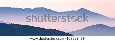 Chiang Mai morning on hilltop view,Thailand - stock photo