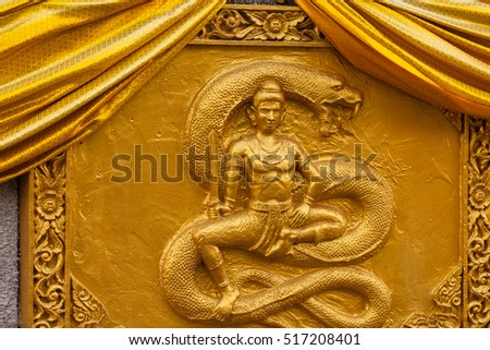 CHIANG MAI, THAILAND - NOV 18, 2016 Religious symbols in buddhism thailand temple / Asia, Thailand