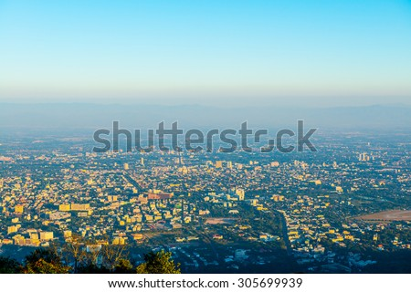 Chiangmai city at view point, Thailand. - stock photo