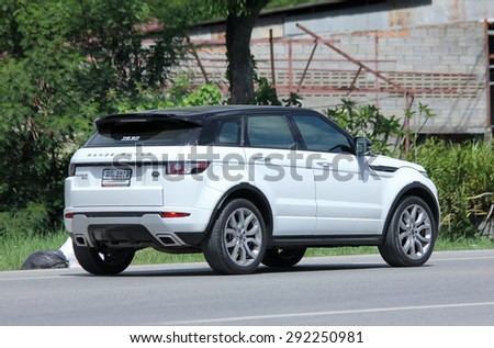CHIANGMAI , THAILAND -JUNE 29 2015: Private Range Rover car. Suv Car from Land Rover.  Photo at road no.121 about 8 km from downtown Chiangmai, thailand. - stock photo