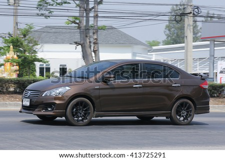 CHIANGMAI, THAILAND -MARCH 22 2016:  Private Eco car, Suzuki Ciaz. Photo at road no 121 about 8 km from downtown Chiangmai, thailand.