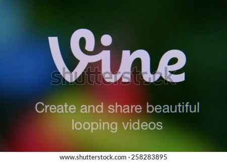 CHIANGMAI, THAILAND - MARCH 6, 2015: Vine is a short-form video sharing service. - stock photo