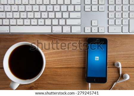 CHIANGMAI, THAILAND -MAY 19, 2015:Linkedin is a social networking website for people in professional occupations. As of June 2013 more than 259 million users in more than 200 - stock photo