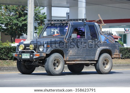 CHIANGMAI, THAILAND -NOVEMBER 5 2015:  Private car, Suzuki Caribian. Photo at road no 121 about 8 km from downtown Chiangmai, thailand.