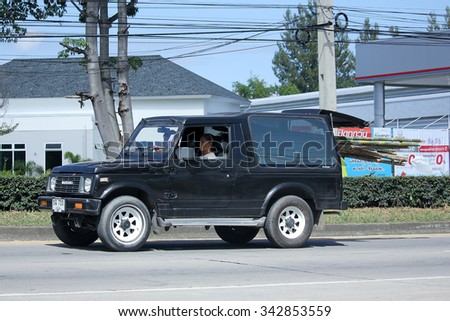 CHIANGMAI, THAILAND -OCTOBER  15 2015:  Private car, Suzuki Caribian. Photo at road no 121 about 8 km from downtown Chiangmai, thailand.
