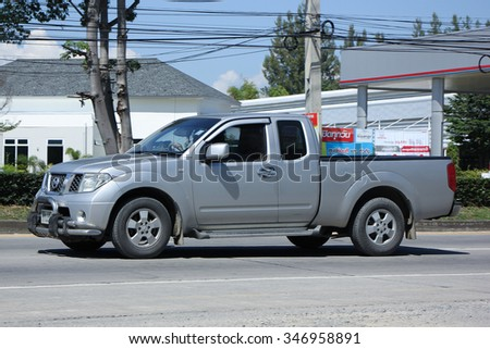 CHIANGMAI, THAILAND -OCTOBER  17 2015:   Private Pickup car, Nissan Frontier. Photo at road no 121 about 8 km from downtown Chiangmai, thailand.