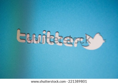 CHIANGMAI, THAILAND - OCTOBER 4: Twitter Is Going Public on Oct  4, 2014 in Chiangmai, Thailand. - stock photo