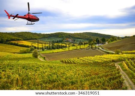 Chianti region landscape, Tuscany,Italy - stock photo