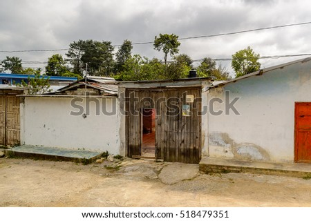 CHIAPAS, MEXICO - NOV 2, 2016: Architecture of One of the maya villages in Chiapas state of Mexico. Here live the real people of the maya origin