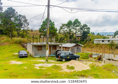 CHIAPAS, MEXICO - NOV 2, 2016: Beautiful view of the One of the maya villages in Chiapas state of Mexico. Here live the real people of the maya origin