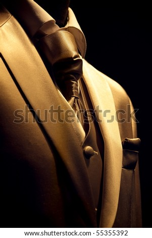 Chic and stylish golden suit - stock photo