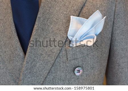 Chic and stylish suit for elegant man  - stock photo