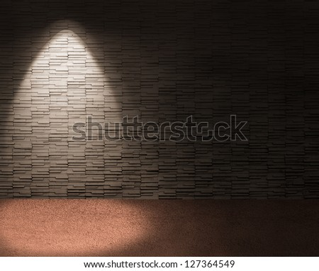 chic interior with spotlight on left background. - stock photo