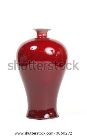 Chic red vase - stock photo