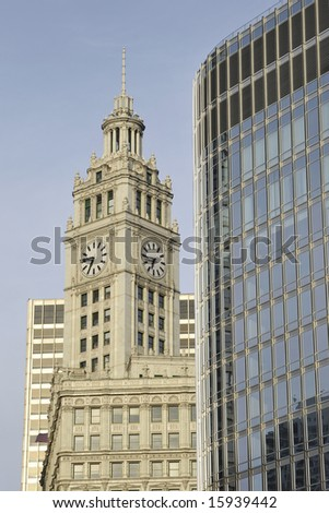 Chicago Architecture Old and New - stock photo