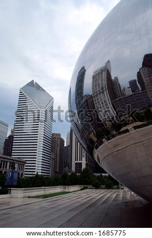 Chicago bean on overcast morning