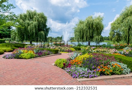 Chicago Botanic Garden - stock photo