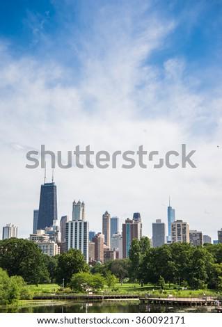 Chicago city downtown Skyline - stock photo