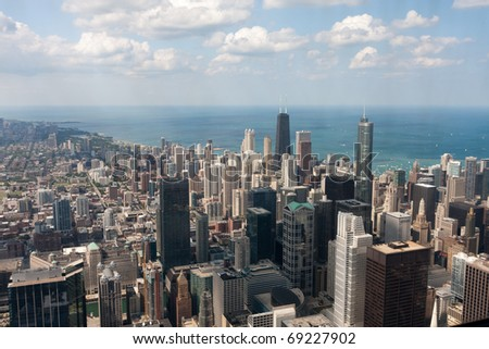 Chicago city scape beside sea