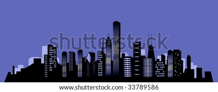 Chicago city skyline - stock photo