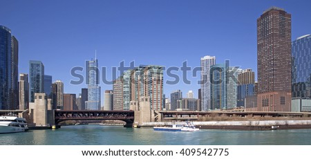 Chicago city view - stock photo
