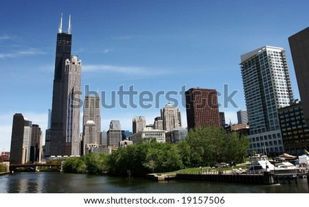 Chicago Cityscape in Spring