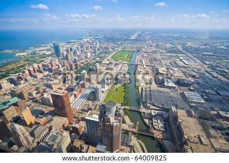 Chicago Cityscape, United States - stock photo