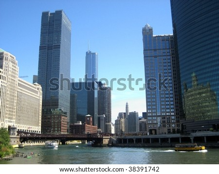 Chicago constructions - stock photo