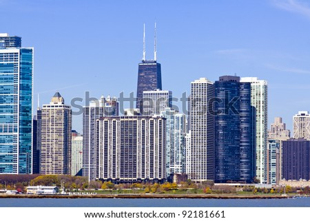 Chicago Downtown in Fall - stock photo